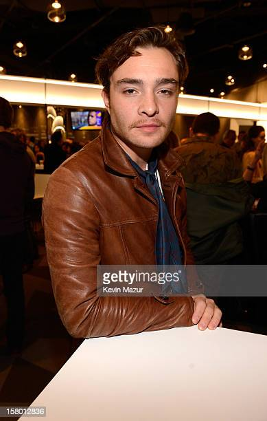 Ed Westwick backstage at Barclays Center of Brooklyn on December 8 2012 in New York City