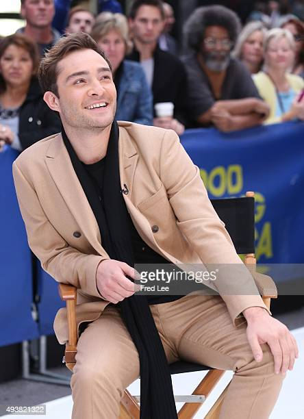 AMERICA Ed Westwick is a guest on 'Good Morning America' 10/22/15 airing on the ABC Television Network
