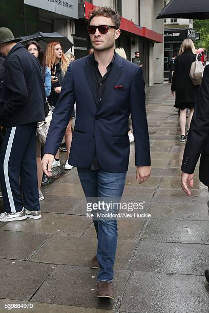 Ed Westwick seen at the Katie Eary s/s17 Catwalk Show at BFC Show Space on June 13 2016 in London England