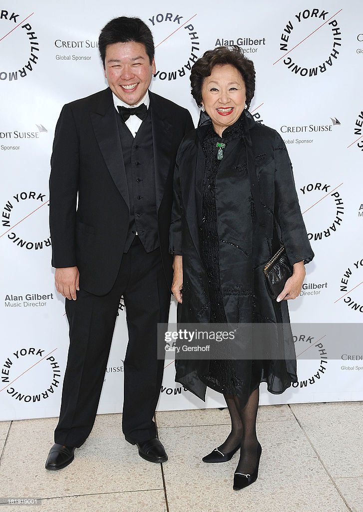 Ed Yim (L) and Shirley Young attend New York Philharmonic 172nd Season Opening Night Gala at Avery Fisher Hall, Lincoln Center on September 25, 2013 in New York City.