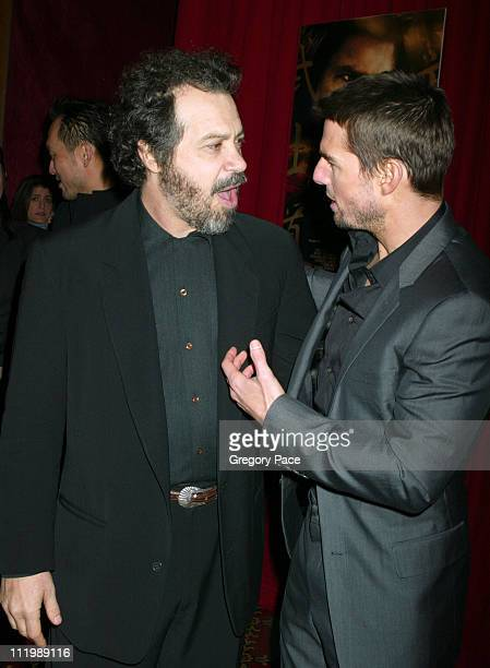 Ed Zwick director and Tom Cruise during 'The Last Samurai' New York Premiere Inside Arrivals at The Ziegfeld Theater in New York City New York United...
