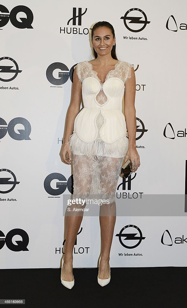 Eda Taspinar attends the GQ Turkey Men of the Year awards at Four Seasons Bosphorus Hotel on December 11, 2013 in Istanbul, Turkey.