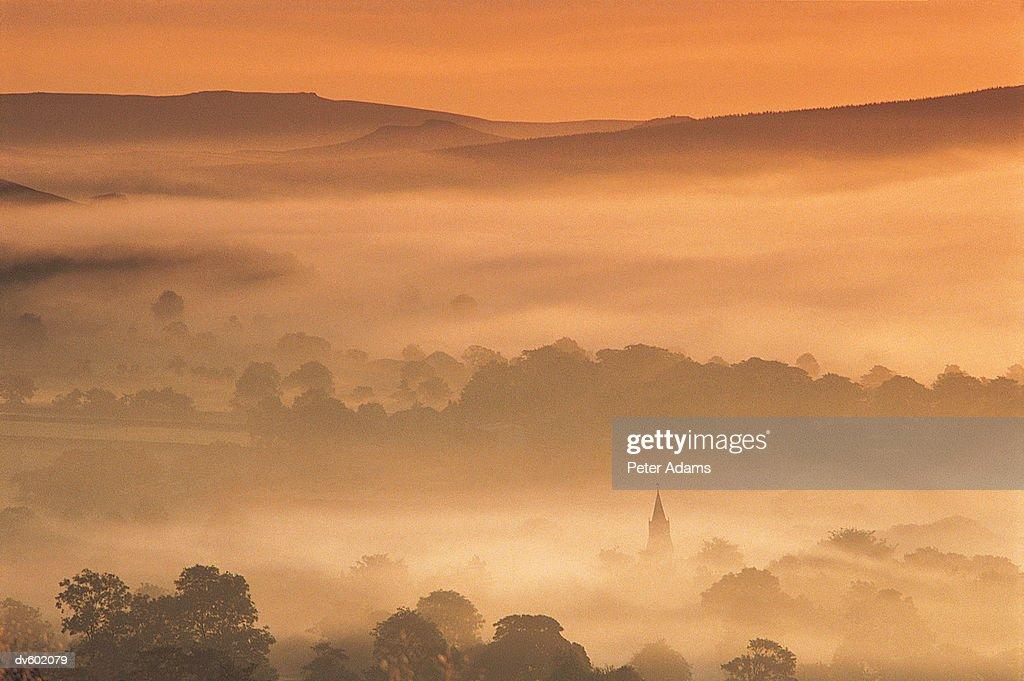 Edale Valley, Derbyshire, England, UK : Stock Photo