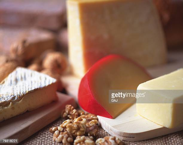 Edam Cheese and Epikure Cheese, High Angle View, Differential Focus