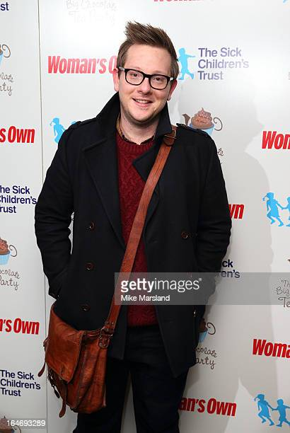 Edd Kimber attends the Woman's Own Big Chocolate Tea Party in aid of The Sick Children's Trust at May Fair Hotel on March 26 2013 in London England