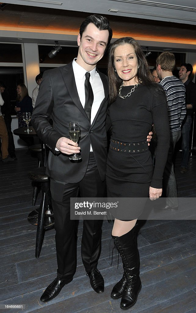 Edd Post and Lorraine Chase attend the Jersey Boys 5th anniversary performance after party at the Paramount Club on March 26, 2013 in London, England.