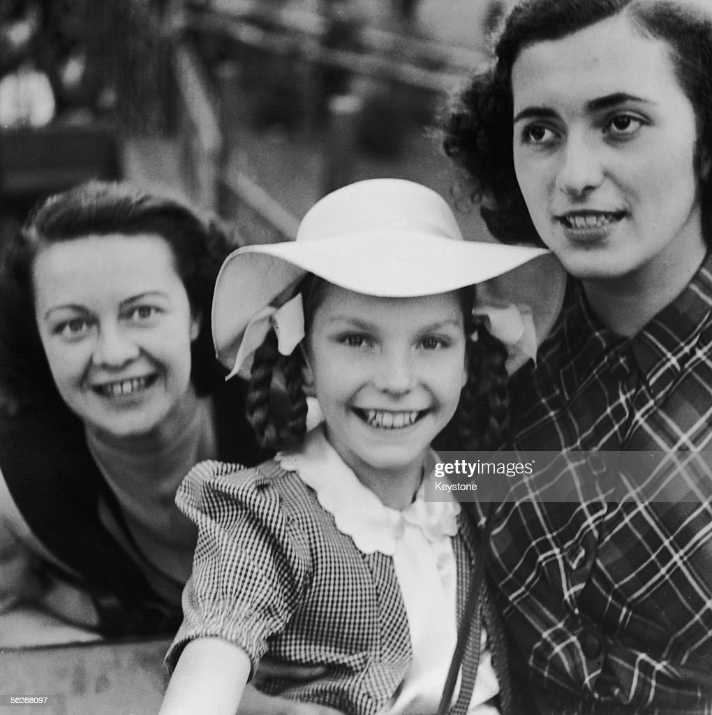 Edda Goering (centre), daughter of Nazi leader Hermann Goering, at a funfair in Munich, 1951.