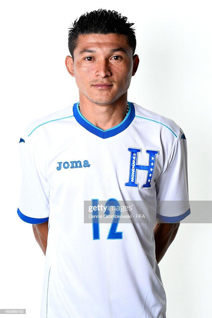 Edder Delgado of Honduras poses during the Official FIFA World Cup 2014 portrait session on June 10, 2014 in Porto Feliz, Brazil.
