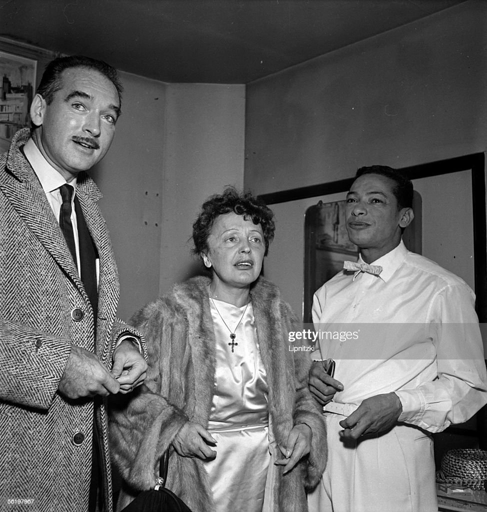 Eddie Barclay Edith Piaf and Henri Salvador Paris theatre of the Alhambra november 1958
