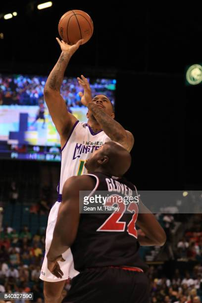 Eddie Basden of 3 Headed Monsters during the BIG3 three on three basketball league championship game on August 26 2017 in Las Vegas Nevada