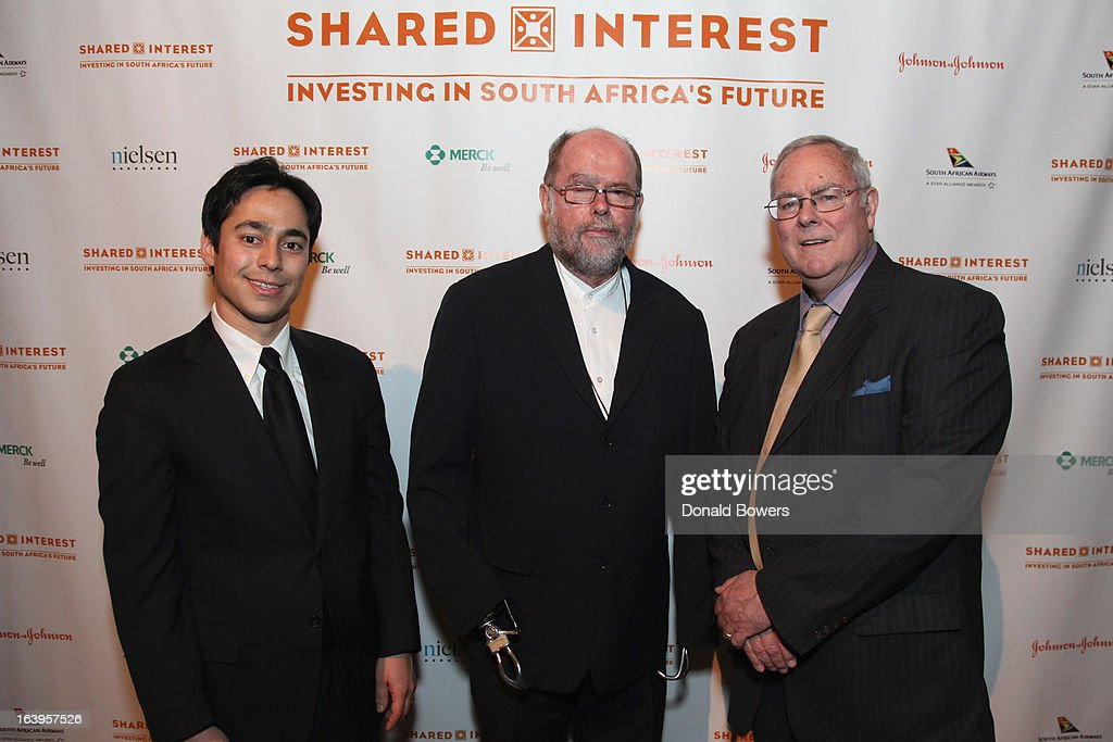 Eddie Bergman, Father Michael Lapsley, and Tim Smith attend the Shared Interest 19th Annual Awards Gala on March 18, 2013 in New York City.