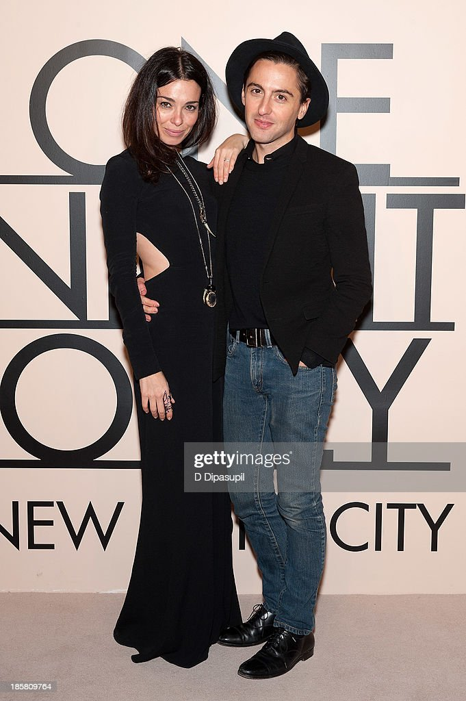 Eddie Borgo (R) and guest attend Armani - One Night Only New York at SuperPier on October 24, 2013 in New York City.