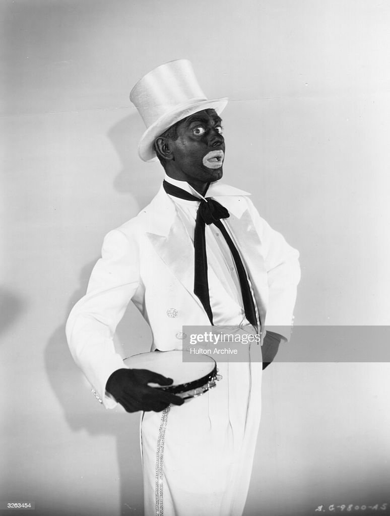 Eddie Cantor (1892 - 1964) the stage name of Edward Israel Itskowitz in the Black-Face scene from the film 'Kid Millions', directed by Roy Del Ruth for Samuel Goldwyn Studios.