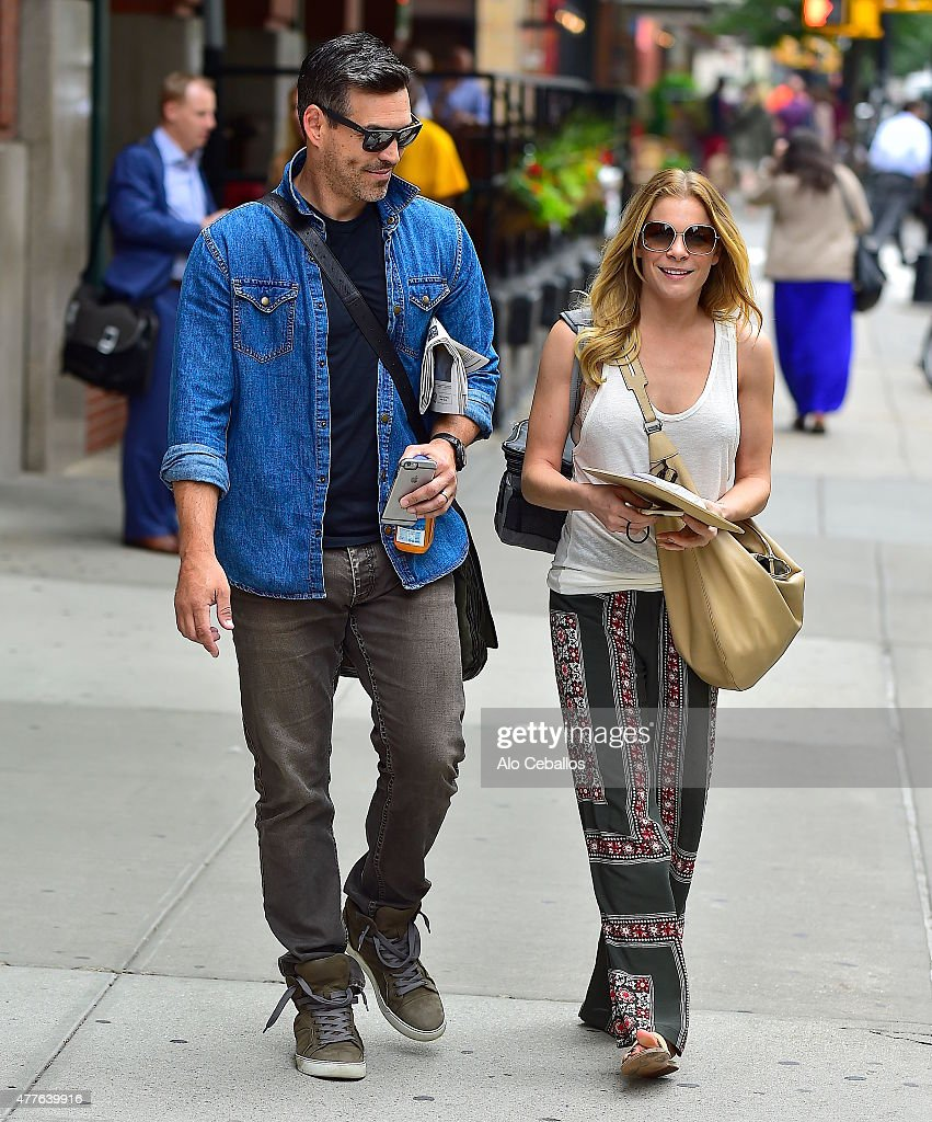 Eddie Cibrian and LeAnn Rimes are seen in Tribeca on June 18 2015 in New York City