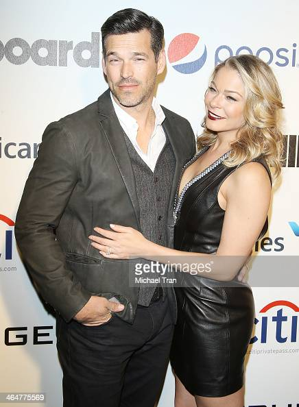 Eddie Cibrian and LeAnn Rimes arrive at Billboard 2nd Annual Power 100 cocktail reception held at Emerson Theater on January 23 2014 in Hollywood...