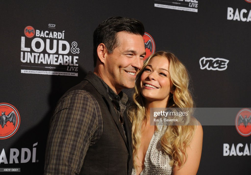 Eddie Cibrian and LeAnn Rimes attend Cuban Independence Day celebration hosted by VICE and Bacardi at Weylin B Seymour's on May 20 2014 in New York...