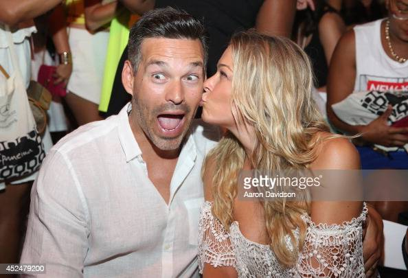 Eddie Cibrian and LeAnn Rimes attend Luli Fama fashion show during MercedesBenz Fashion Week Swim 2015 at Cabana Grande at The Raleigh on July 20...
