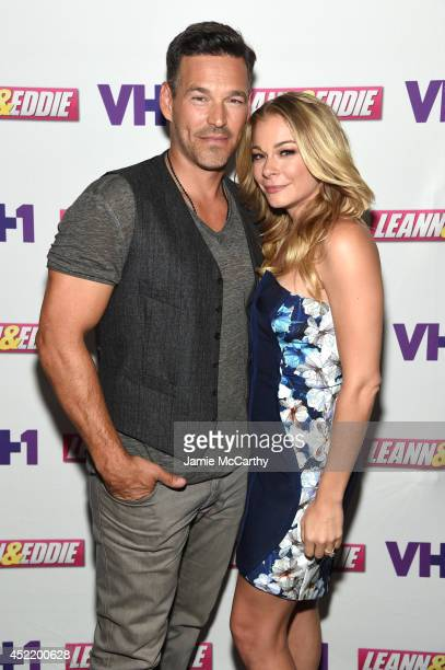 Eddie Cibrian and LeAnn Rimes attend the LeAnn Eddie Screening Party at Attic Rooftop Lounge on July 15 2014 in New York City