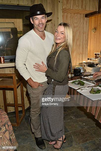 Eddie Cibrian and LeAnn Rimes attend the Project Angel Food presents in concert with Andrew von Oeyen on March 22 2015 in Malibu California