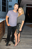 Eddie Cibrian and Singer LeAnn Rimes attend the Maxim Magazine Worldwide Swimwear Collection launch at SLS South Beach on July 18 2015 in Miami...