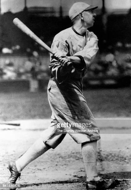 Eddie Collins 2nd baseman of the Chicago White Sox at bat circa 1919