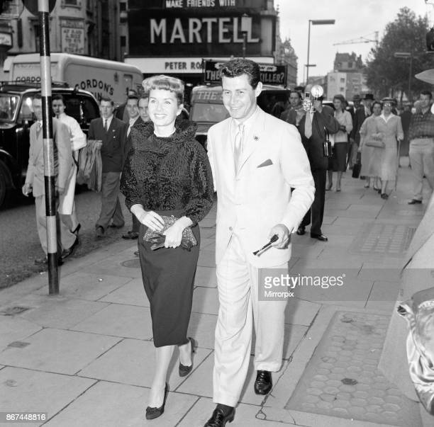 Eddie Fisher and his wife Debbie Reynolds who arrived over here for Mr Fisher's appearance at the London Palladium the 10th June They arrived on the...