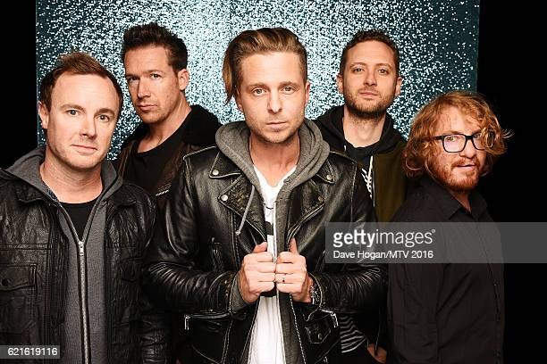 Eddie Fisher Zach Filkins Ryan Tedder Brent Kutzle and Drew Brown of OneRepublic attend the MTV Europe Music Awards 2016 on November 6 2016 in...
