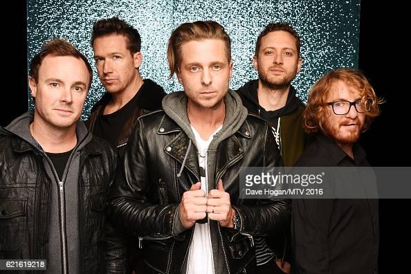 Eddie Fisher Zach Filkins Ryan Tedder Brent Kutzle and Drew Brown of OneRepublic attend the MTV Europe Music Awards 2016 on November 6 2016 in...