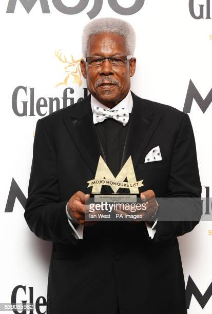 Eddie Floyd receives the Hero award at the Mojo Awards presentation in London