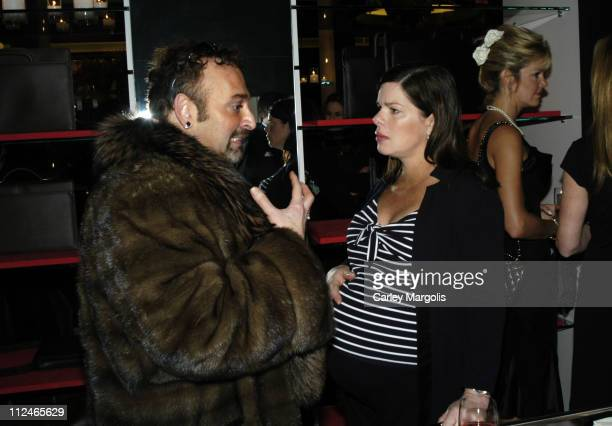 Eddie Graffino and Marcia Gay Harden during Candace Bushnell Begins Montblanc's Great American Love Story with the World's Most Expensive Pen at...