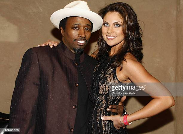 Eddie Griffin and Nadia Bjorlin during 'Redline' Los Angeles Premiere After Party at Roosevelt Hotel in Hollywood California United States