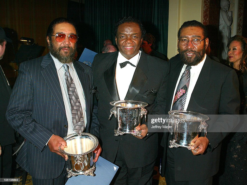 Eddie Holland, Lamont Dozier & Brian Holland during BMI 51st Annual Pop Awards A Salute to Motown Honoring 'Holland-Dozier-Holland with BMI ICON Award. at Regent Beverly Wilshire Hotel in Beverly Hills, California, United States.