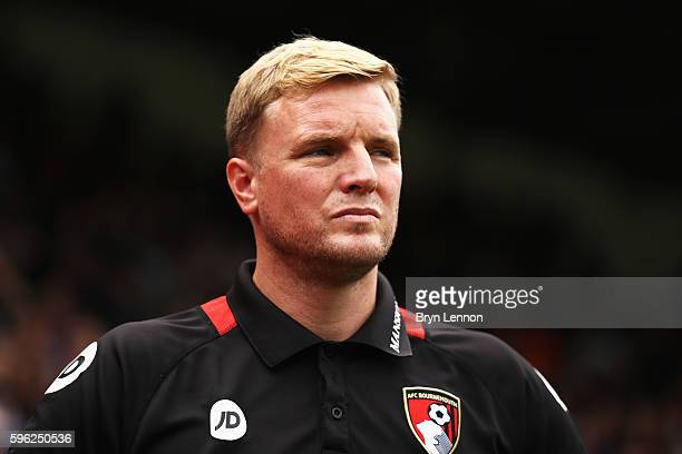 Eddie Howe Manager of AFC Bournemouth looks on during the Premier League match between Crystal Palace and AFC Bournemouth at Selhurst Park on August...