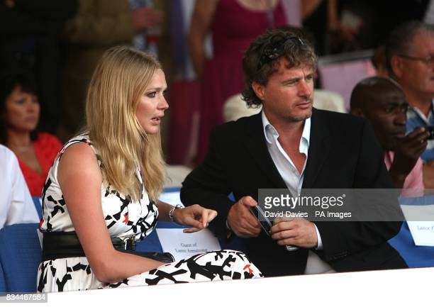 Eddie Irvine and Jodie Kidd at the Grand Prix and Fashion Unite at The Amber Lounge Le Meridien Beach Plaza Hotel Monaco