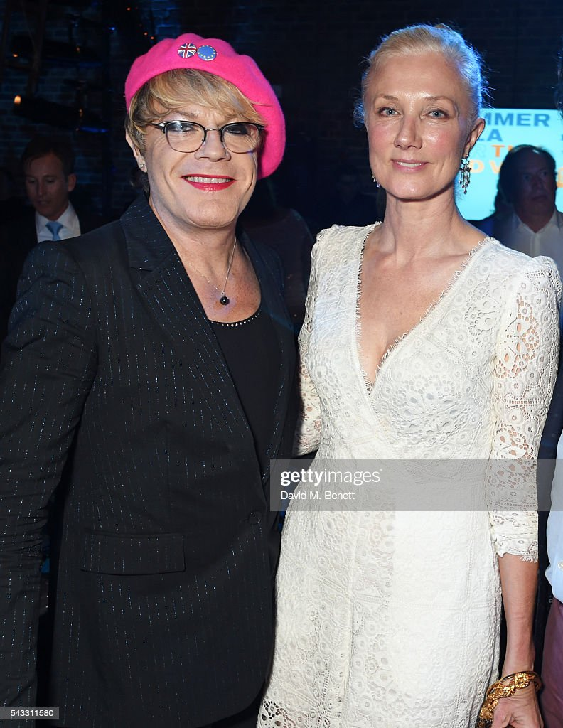 <a gi-track='captionPersonalityLinkClicked' href=/galleries/search?phrase=Eddie+Izzard&family=editorial&specificpeople=204152 ng-click='$event.stopPropagation()'>Eddie Izzard</a> (L) and <a gi-track='captionPersonalityLinkClicked' href=/galleries/search?phrase=Joely+Richardson&family=editorial&specificpeople=201859 ng-click='$event.stopPropagation()'>Joely Richardson</a> attend the Summer Gala for The Old Vic at The Brewery on June 27, 2016 in London, England.