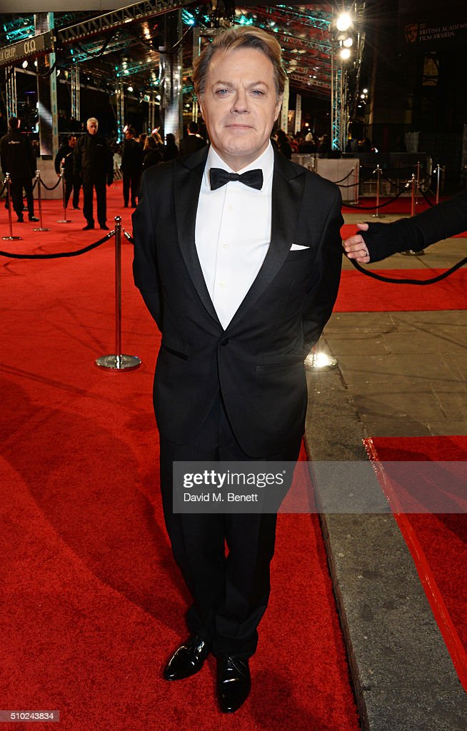 <a gi-track='captionPersonalityLinkClicked' href=/galleries/search?phrase=Eddie+Izzard&family=editorial&specificpeople=204152 ng-click='$event.stopPropagation()'>Eddie Izzard</a> attends the EE British Academy Film Awards at The Royal Opera House on February 14, 2016 in London, England.
