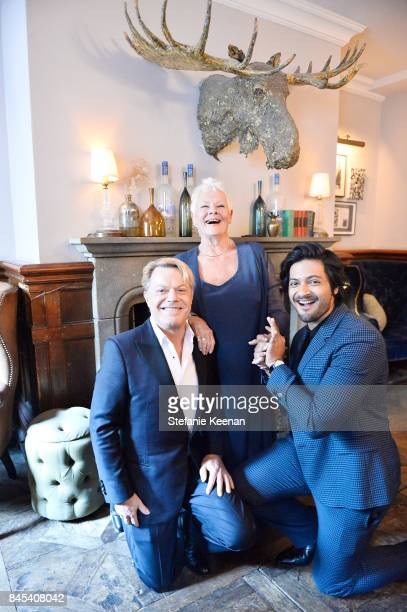 Eddie Izzard Judi Dench and Ali Fazal at Focus Features' VICTORIA ABDUL premiere party hosted by GREY GOOSE Vodka and Soho House on September 10 2017...