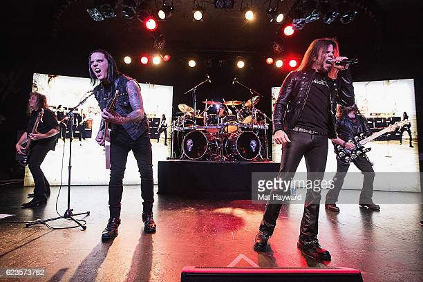 Eddie Jackson Parker Lundgren Scott Rockenfield Todd La Torre and Michael Wilton of Queensryche perform on stage during the Condition Human World...