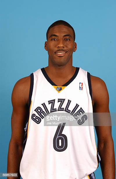 Eddie Jones of the Memphis Grizzlies poses for a headshot portrait during the Grizzlies Media Day October 3 2005 at FedexForum in Memphis Tennessee...
