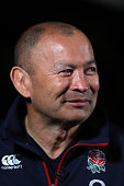 Eddie Jones the England head coach faces the media during the England media session held at the Crowne Plaza hotel at Coogee Beach on June 20 2016 in...