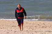 Eddie Jones the England head coach walks on the beach during the England recovery session held at Coogee Beach on June 20 2016 in Sydney Australia