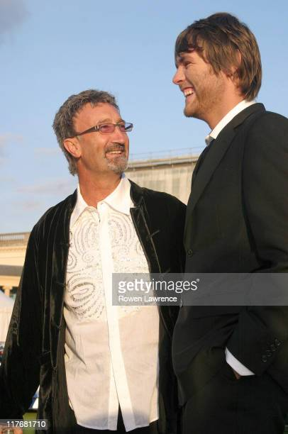 Eddie Jordan and Brian McFadden during Silverstone F1 Grand Prix Ball at Stowe School in Stowe Great Britain