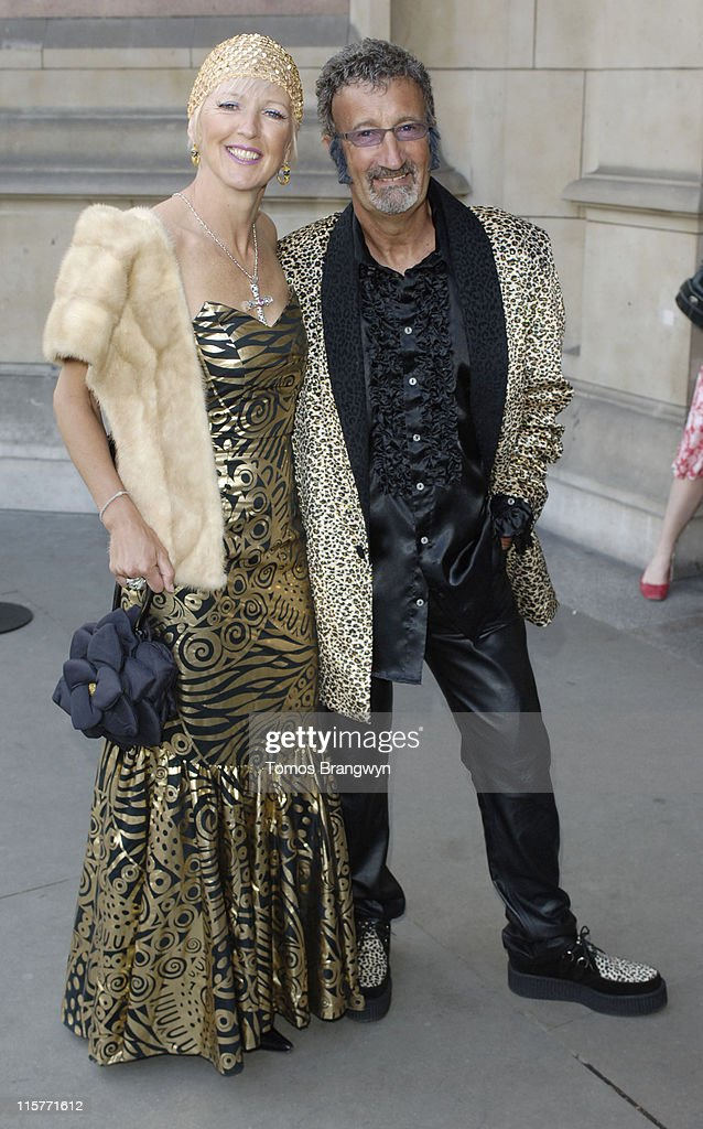 Eddie Jordan and partner during The Biba Ball Arrivals at Victoria Albert Museum in London Great Britain