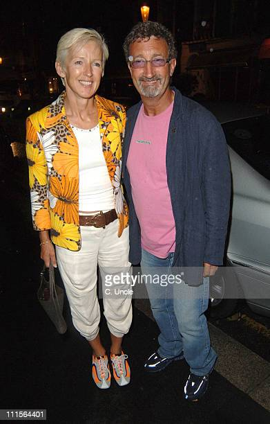 Eddie Jordan and wife during Nozomi Launch Party June 29 2005 at Nozomi in London Great Britain
