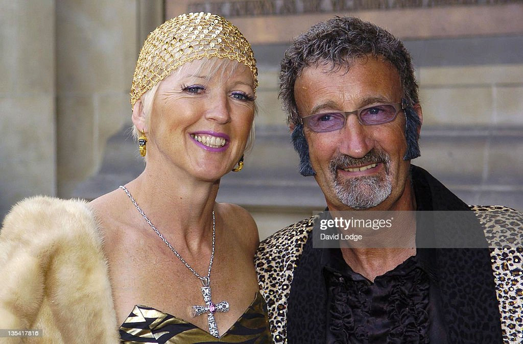 Eddie Jordan and wife during The 2006 Biba Ball Outside Arrivals at Victoria Albert Museum in London Great Britain