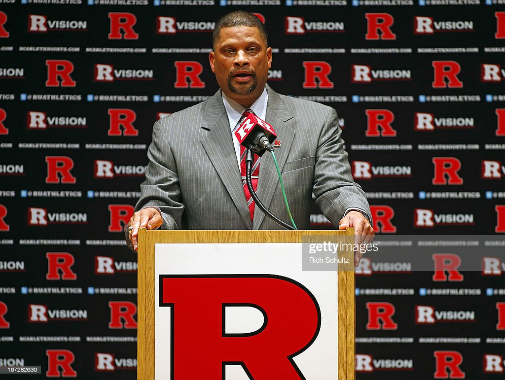Eddie Jordan, the former Rutgers star, is introduced as the school's head men's basketball coach on April 23, 2013 in New Brunswick, New Jersey. Jordan, who starred in the 1970s with Rutgers and made it to the Final Four in 1976, replaces Mike Rice who was fired after a video surfaced showing him physically and verbally abusing his players during practice.