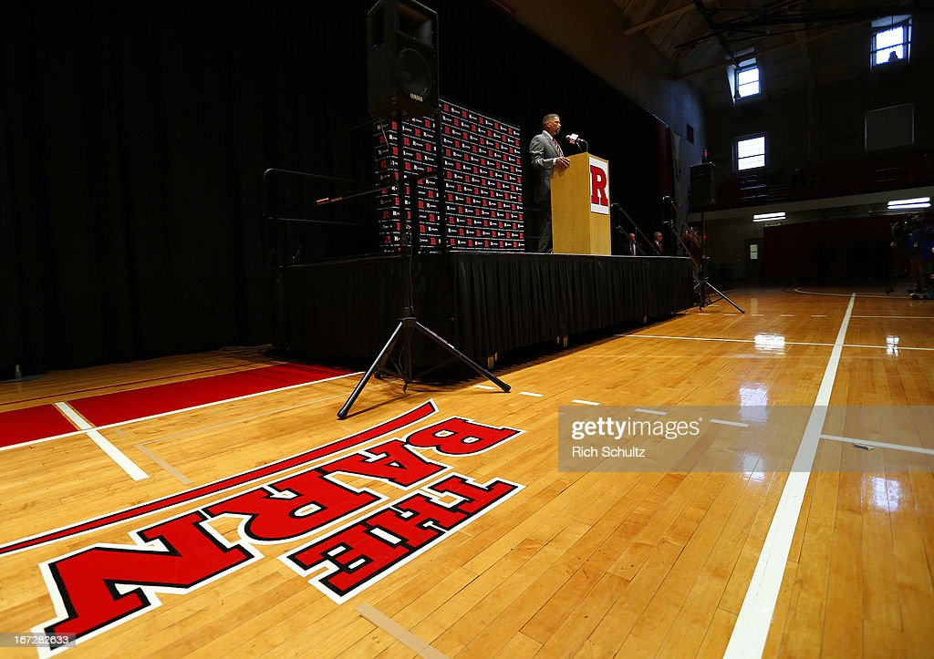 Eddie Jordan, the former Rutgers star, is introduced as the school's head men's basketball coach on April 23, 2013 in New Brunswick, New Jersey. Jordan, who starred in the1970s with Rutgers and made it to the Final Four in 1976, replaces Mike Rice who was fired after a video surfaced showing him physically and verbally abusing his players during practice.