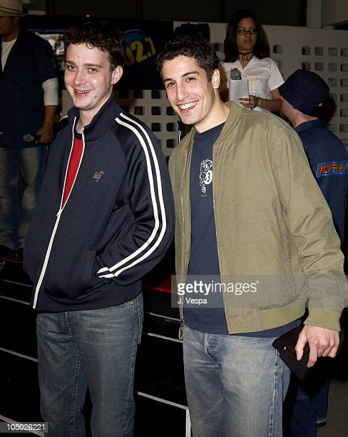 Eddie Kaye Thomas and Jason Biggs during 'Final Destination 2' Premiere at Cinerama Dome in Hollywood California United States