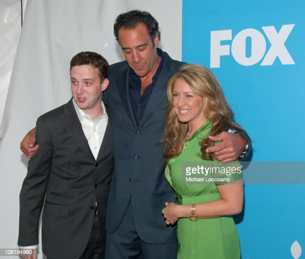 Eddie Kaye Thomas Brad Garrett and Joely Fisher during The 2007/2008 Fox Upfronts Arrivals at Wollman Rink Central Park in New York City New York...