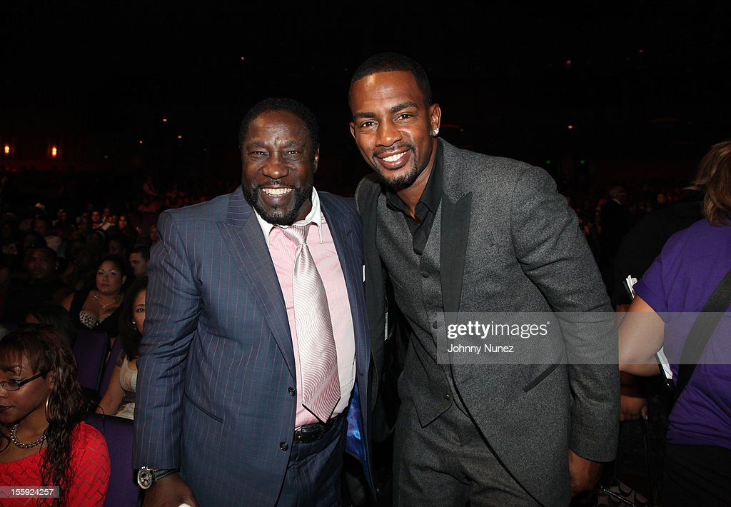 <a gi-track='captionPersonalityLinkClicked' href=/galleries/search?phrase=Eddie+Levert&family=editorial&specificpeople=2534545 ng-click='$event.stopPropagation()'>Eddie Levert</a> and <a gi-track='captionPersonalityLinkClicked' href=/galleries/search?phrase=Bill+Bellamy&family=editorial&specificpeople=241222 ng-click='$event.stopPropagation()'>Bill Bellamy</a> attend Soul Train Awards 2012 at Planet Hollywood Casino Resort on November 8, 2012 in Las Vegas, Nevada.